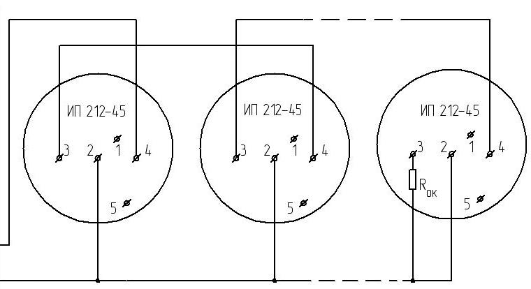 Схема подключения датчика ИП-212